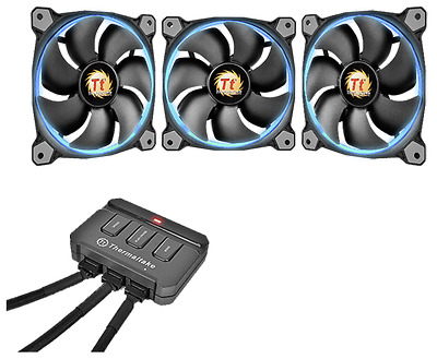 Thermaltake Fan 140Mm Riing 14 Led Rgb 3 Pack New