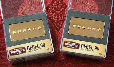 REBEL 90 GOLD NECK BRIDGE oder SET R90 BUCKER HANDMADE TONERIDER ALNICO II P90