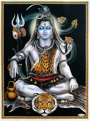 Lord Shiva in Meditation Dhyan, Om Aum - POSTER (Normal Paper Size: 9x11)