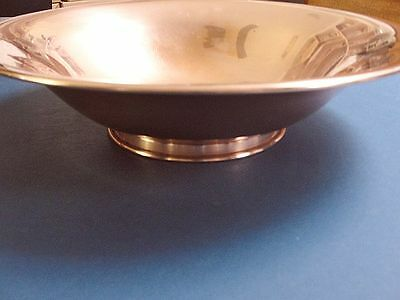 """Vintage Modern Solid Copper Footed Salad Bowl,serving,mixing, Centerpiece 14"""""""