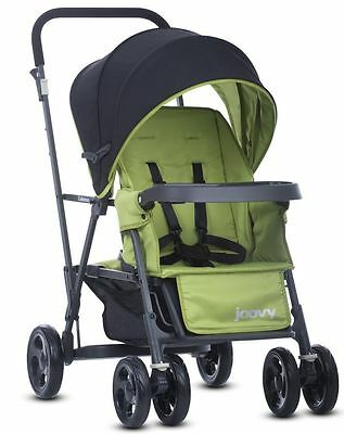 Joovy Caboose Graphite Double Stand On Twin Tandem Stroller Appletree NEW 2016