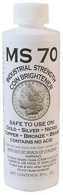 12 x MS70 Coin Cleaner Brightener & Cleaner for Gold Silver Copper Nickel  #7530