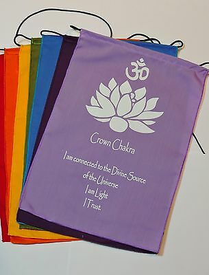 Handmade Tibetan Small Seven Chakra Prayer flags Banner wall hanging