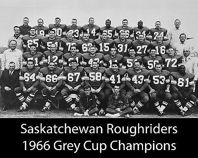 Saskatchewan Roughriders - 1966 Grey Cup Champions, 8x10 B&W Team Photo