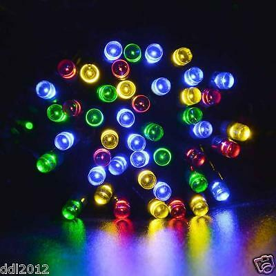 100 LED Christmas Xmas Tree Fairy String Solar Powered Lights Oudoor Indoor 12M