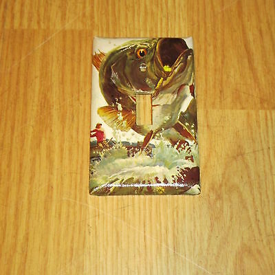 Huge Trophy Monster Bass Wild Game Fish Light Switch Cover Plate #8