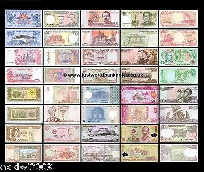 Asia Banknote Collection - 20 Different Unc Banknotes 20 Pcs  Set # 1