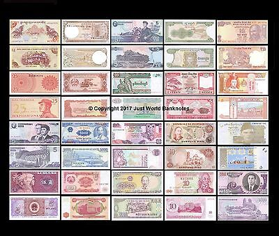 Asia Banknote Collection - 20 Different Unc Banknotes 20 Pcs  Set # 2
