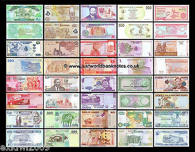 Africa Banknote Collection - 80 Different Unc Banknotes 80 Pcs  Set # 5