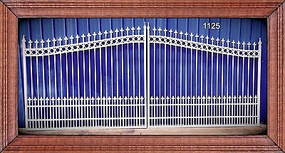Aluminum Driveway Entry Gate 18 Ft WD DS Fencing, Handrails Beds Residential