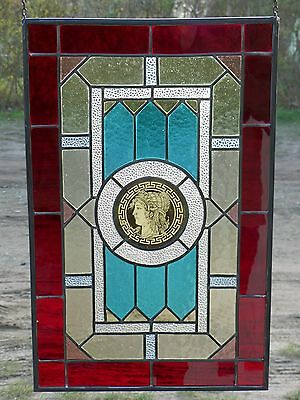 Leaded glass Window image Screening Motif the Antique, classical