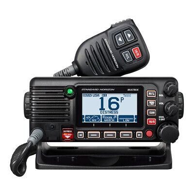 Standard Horizon GX2200 Class D VHF Boat Radio with Integrated AIS/GPS DSC Black