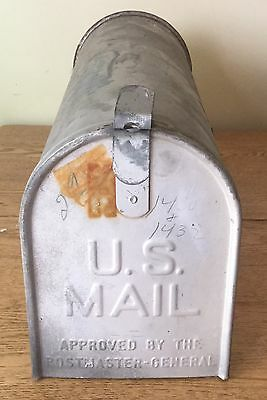 Vintage Authentic Rustic Galvanized Steel Old Farm Mailbox American Made