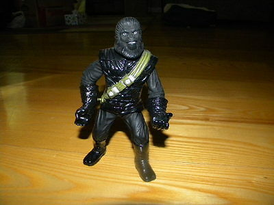 """1999 Hasbro Planet of the Apes 7"""" Gorilla Soldier Loose Action Figure"""