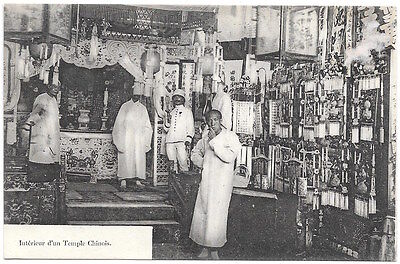 Postcard Interior of d'un Temple Chinois in China~96768