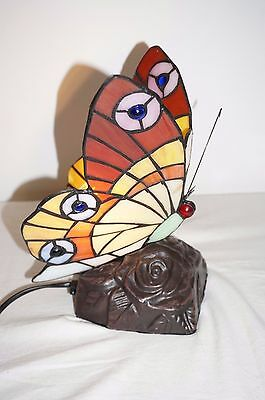 Butterfly Lamp Tiffany Stained Glass Table Lamp Bedroom leadlight Light Multi