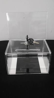 NEW  Large Donation / Ballot Tip Box With Lock and 2 Keys