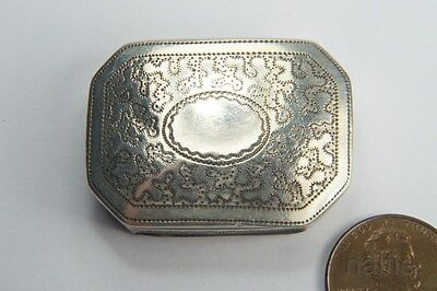 ANTIQUE GEORGIAN PERIOD ENGLISH STERLING SILVER VINAIGRETTE c1814