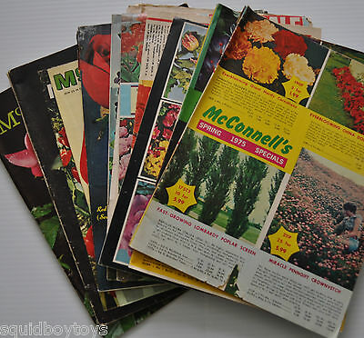 lot of 10 various McCONNELL'S Flower/Plant/Gardening CATALOG 1960s