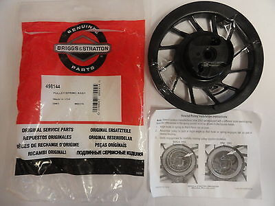GENUINE BRIGGS AND STRATTON 498144 RECOIL PULLEY & SPRING - fits vertical intek