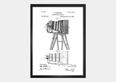 Fotoapparat - Photo-Camera Poster - Patent Poster - Fineart Print DIN A4
