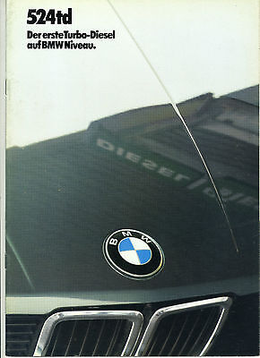 (86) CATALOGUE BMW 524td TEXTE ALLEMAND
