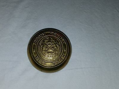 BRONX COUNTY New York Courthouse Door Knob Brass RARE