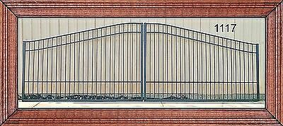 Aluminum Driveway Entry Gate 18 Ft WD DS Incl Post PKG, Commercial - Residential