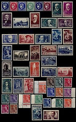 ANNEE 1938 sauf Ader, Neufs ** = Cote 570 € / Lot Timbres France