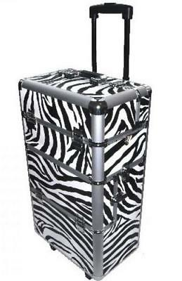 3in1 TROLLEY 360°  ~ ALU-KOFFER für die mobile Naildesignerin: ZEBRA-Design