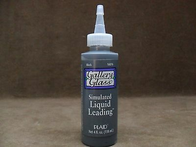Gallery Glass Plaid Simulated Liquid Leading 4 Ounce 16076 Classic Black New
