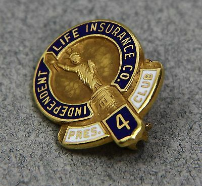 2004 Independent Life Insurance Company President's Club 14K Gold Pin Pinback