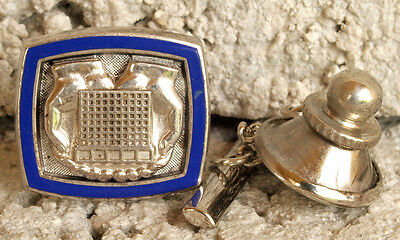 Vintage Enameled Sterling Silver Allstate Insurance Business Tie Tack