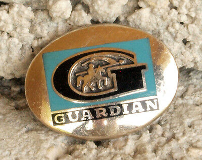 Vintage Enameled Sterling Silver Guardian Insurance Company Pin