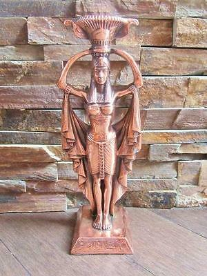 Amazing Handmade Egyptian Statue Ancient Winged Queen ISIS Candle Holder X-LARGE
