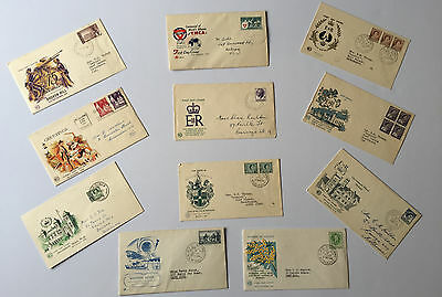 11 First Day Covers with Stamps 1955 -1964 - Free Postage