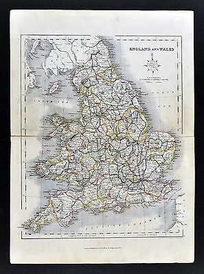 c. 1849 Archer Map - England Wales - London Liverpool Oxford Great Britain UK