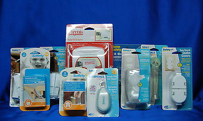 Baby SAFETY 1st Package Latches, Outlet covers, Medicine Spoon , + more Set # 13