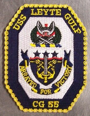 Embroidered Military Patch U S Navy ship Cruiser USS Leyte Gulf CG-55 NEW