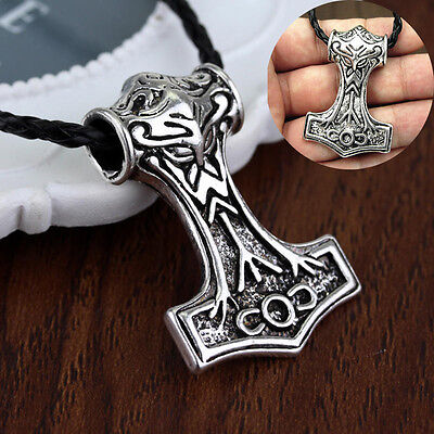 2016 New Stainless Steel Viking Mjölnir Thor's Hammer Pendant Necklace on chain