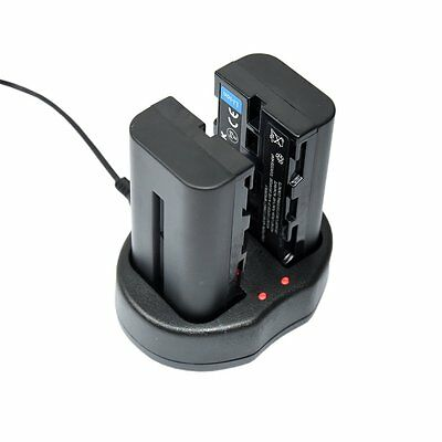 USB Dual Digital Battery Charger for Sony Li-ion Batteries NP-F550 NP F550