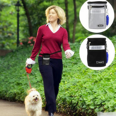 Dog Puppy Baggy Belt Walking Treat Mini Holder Bum Snack Training Bag Pouch Walk