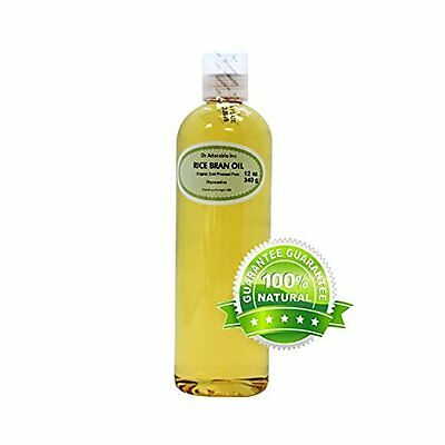 Rice Bran Oil Cold Pressed Organic 12 oz. by Dr Adorable - Bestselling