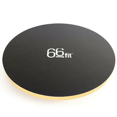 66fit Wooden Balance Board 40cm - PVC Surface - Wobble Ankle Knee Hip Exercise