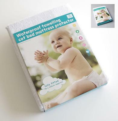 Cot / Cot Bed Terry Towel Waterproof Fitted Sheet Mattress Protector