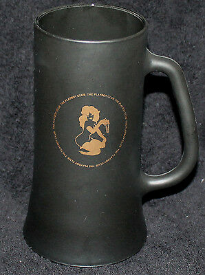 Nice Playboy Club Black Frosted Glass Beer Stein Glass