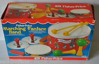Fisher Price MARCHING BAND Instruments #921 w/ box 1979
