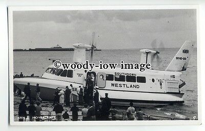 f0775 - SRN 2 Hovercraft at Ryde , Isle of Wight - postcard by Nighs