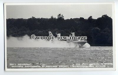 f0782 - SRN 2 Hovercraft at Speed , Isle of Wight - postcard by Nighs