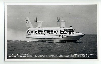 f0784 - SRN 2 Hovercraft at Speed , Isle of Wight - postcard by Nighs